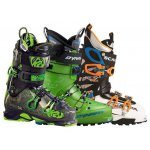 Skitouring boots of Scarpa, Dynafit...