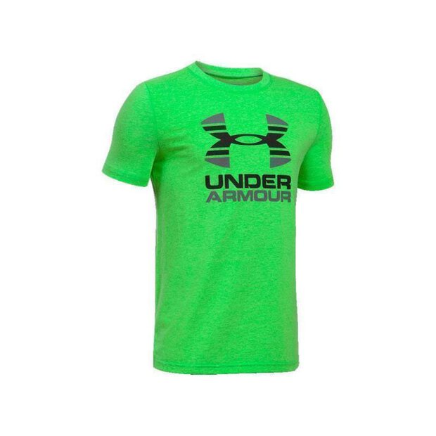 Under Armour 1298292 Two Tone Logo SS LTW/GPH/BLK