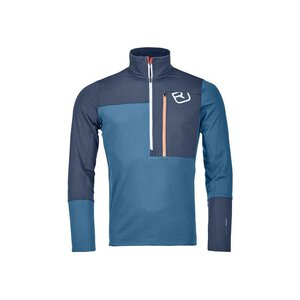 Ortovox 87097 Fleece Light Zip Neck M blue sea