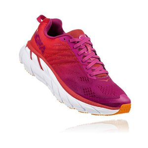 Hoka 1102873 Clifton 6 W Shoe poppyred/cactusflow