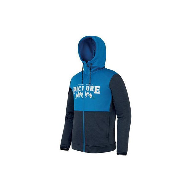 Picture SMT018 Baxter Hoody Zip blue