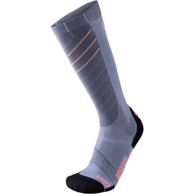 Uyn S100106 Lady Superlight Socks silver/coral