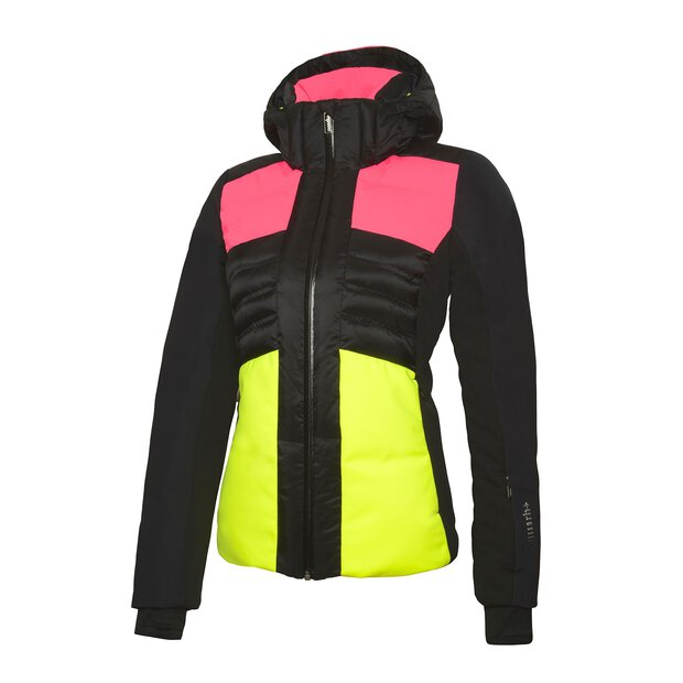 RH+ IND2841 Ice Jacket W black-fluo pink-yellow fluo