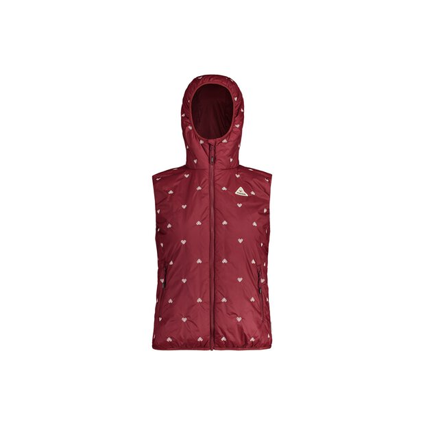 Maloja 30169 Norzin Hooded Primaloft Vest W red monk