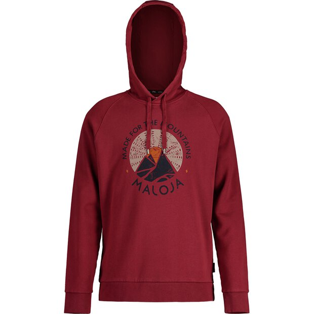 Maloja 30513 Favugn Sweat Hoody M red monk