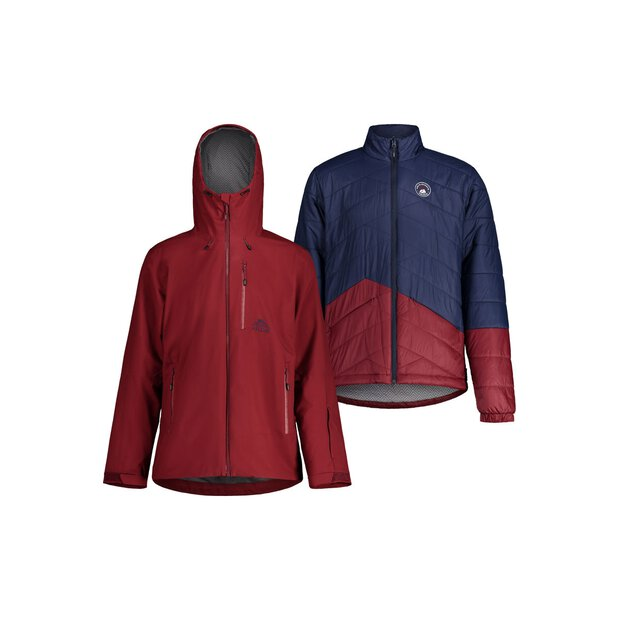 Maloja 30206 Köbi 3in1 Padded Jacket M red monk