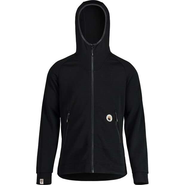 Maloja 30256 Shobe Hooded Fleece Jacket M moonless