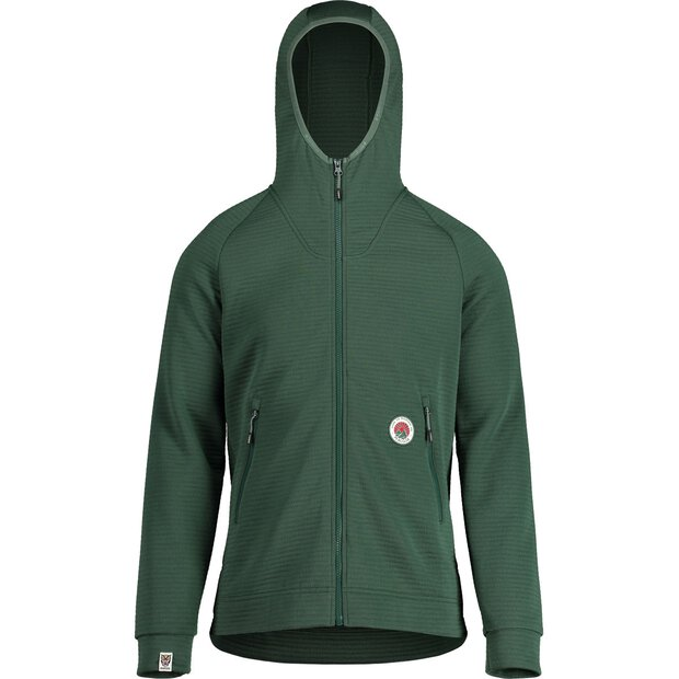Maloja 30256 Shobe Hooded Fleece Jacket M dark cypress