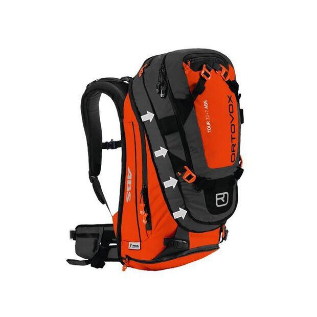 Ortovox 46100 Tour 32+7 ABS Rucksack Zaino orange